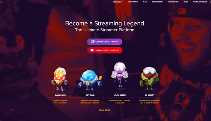 Streamelemantログイン画面