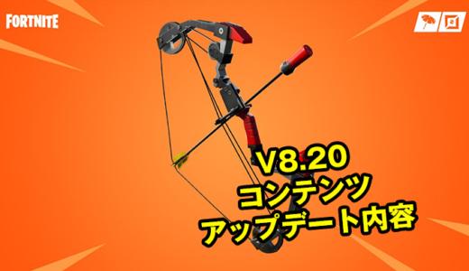 【フォートナイト】V8.20コンテンツアップデート内容【Fortnite】