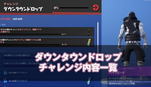 【フォートナイト】期間は6月3日までダウンタウンドロップチャレンジ攻略ガイド【Frotnite】