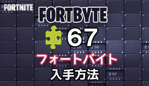 【フォートナイト】フォートバイト67入手場所