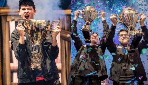 【フォートナイト】マップ上にワールドカップ優勝者トロフィーが名前付きで出現!