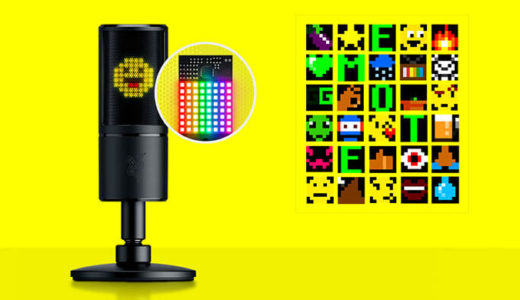 【Razer】8ビット感情アイコンLEDディスプレイ搭載!配信者向けゲーミングマイク「Siren Emote」11月29日より発売開始