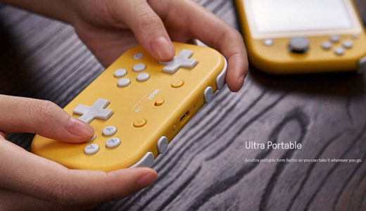 【8BitDo】SwitchLiteにも対応!BluetoothとUSB両対応ゲームコントローラー『Lite Bluetooth Gamepad』12月31日国内発売!