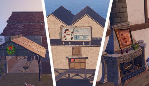 【フォートナイト】ウィンターフェスト『ワークショップ、クラックショットキャビン、Mr.ポーラーアーティザナルアイス』場所
