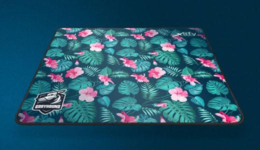 【Xtrfy(エクストリファイ)】洗濯できるハイスピードクロス表面マウスパッド『GP1 GRAYHOUND TROPICAL』1月31日発売
