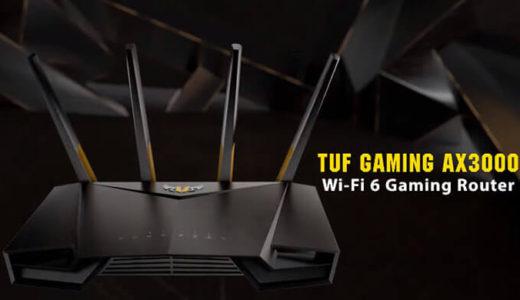 【ASUS】次世代Wi-Fi6対応ゲーミング無線LANルーター『TUF GAMING AX3000』発表
