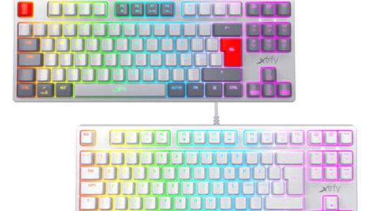 【Xtrfy】ゲーミングキーボード「K4 TKL RGB」に新色ホワイトとレトロを3月13日より国内発売開始