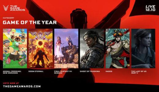 【The Game Awards 2020】ノミネートタイトルに「あつ森」や「Valorant」など!投票のやり方
