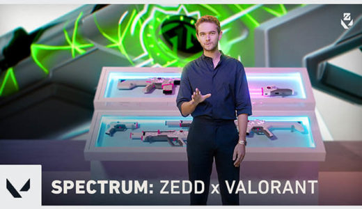 【VALORANT(ヴァロラント)】Zeddコラボでオーディオ連動型スキン「スペクトラム」発表!